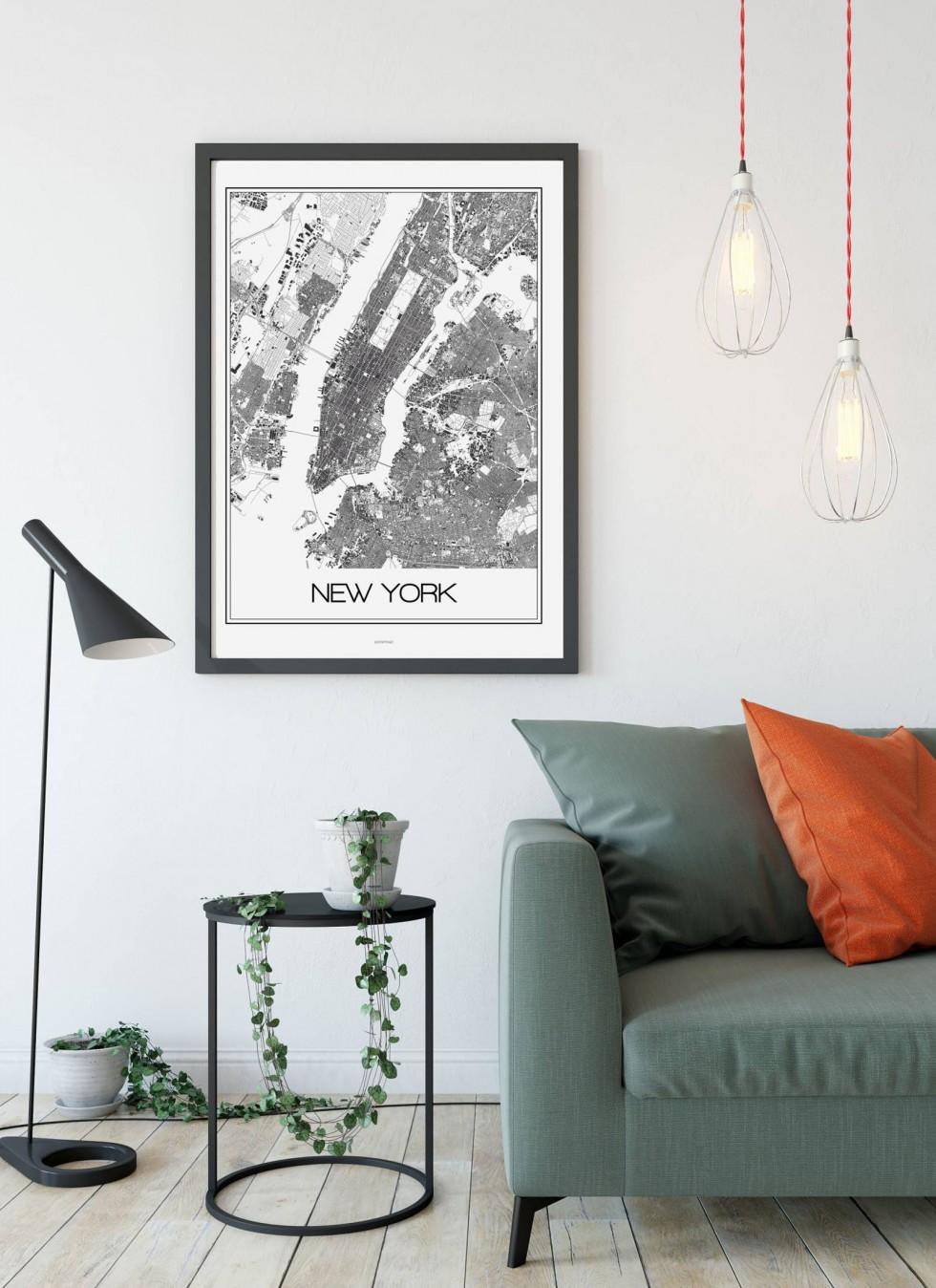 Do jakiego pomieszczenia plakat Paryż, Nowy Jork?
